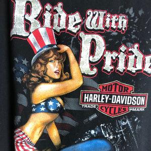 Ride with Pride Harley-Davidson T Shirt